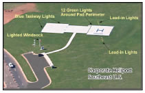 Corporate heliport in southeast US fully designed with dual GPS approaches.